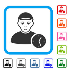 User time framed enjoy icon vector