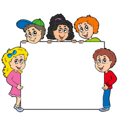 various kids holding board vector image