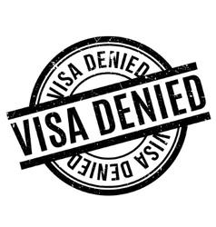 Visa Denied rubber stamp vector image