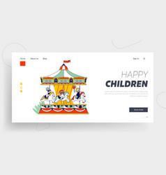 weekend recreation for kids website landing page vector image