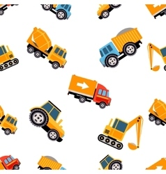 Work Trucks Seamless Pattern vector