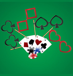 casino party cards dibs vector image vector image