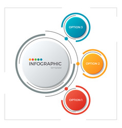 Circle chart infographic template with 3 options vector