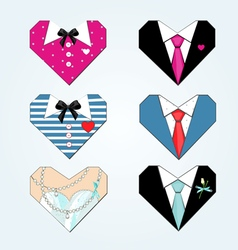 fashion hearts vector image