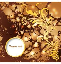 frame on grunge background vector image