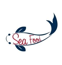 Logo fish sea food ocean vector