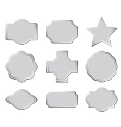 set of the gray frames vector image
