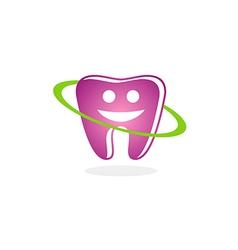 teeth dental smile beauty logo vector image