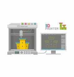 3d printer vector image