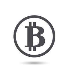 Bitcoin icon isolated vector