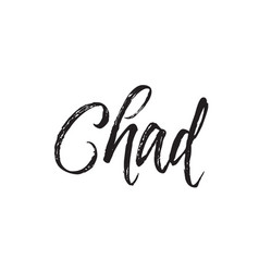 chad text design calligraphy typography vector image vector image