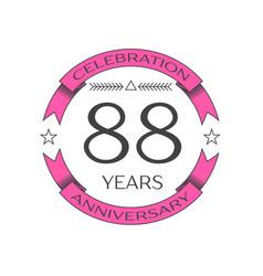 eighty eight years anniversary celebration logo vector image