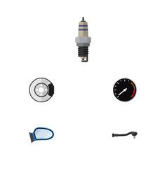 flat parts set of metal spare parts auto vector image vector image
