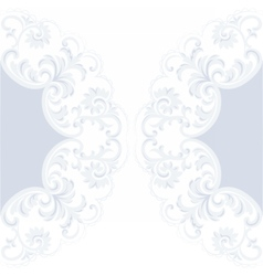 Lace card with crochet floral ornament vector