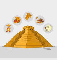 maya culture design vector image vector image