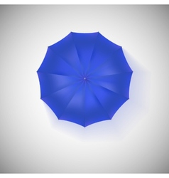 Opened blue umbrella top view closeup vector image vector image