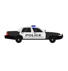 police car realistic isolated vector image
