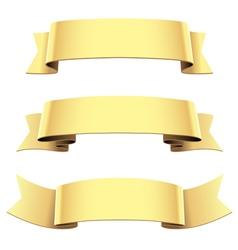 ribbon set gold vector image vector image
