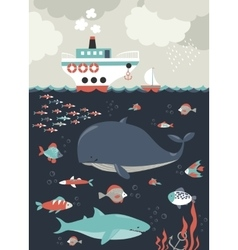 Sea life Underwater world vector image vector image