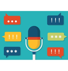 Voice data Task management by voice vector image vector image