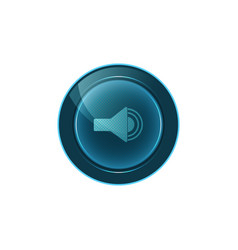 web button sound on white background design vector image
