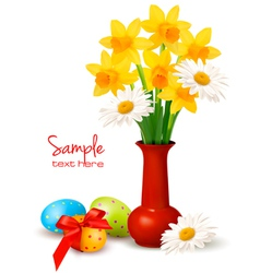 easter floral background vector image vector image