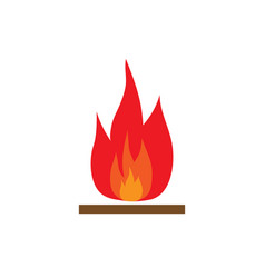 fire sign 1103 vector image vector image