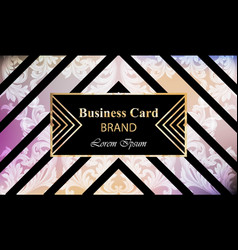 luxury brand card with rich ornament vector image vector image