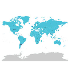 map of united nation with blue highlighted member vector image vector image
