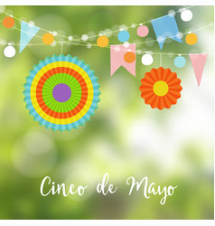 mexican cinco de mayo greeting card invitation vector image