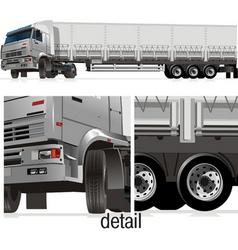 cargo semi-truck vector image vector image