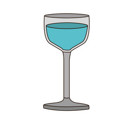 Colorful silhouette of glass cup with water and vector