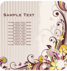 floral background with banner vector image vector image