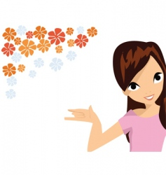 floral elements woman vector image vector image