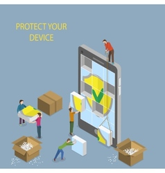 Mobile Device Protection Concept vector image