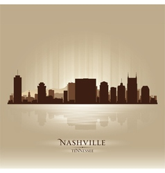 Nashville Tennessee skyline city silhouette vector image vector image