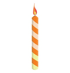 Orange birthday candle vector image vector image