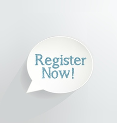 Register Now vector image vector image