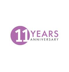11 years logo vector image