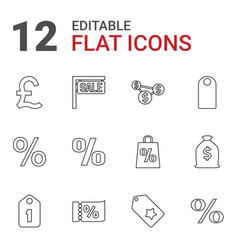 12 price icons vector image