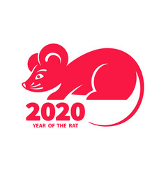 2020 year rat vector image