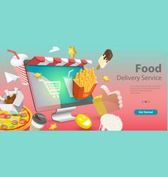 3d conceptual restaurant vector image
