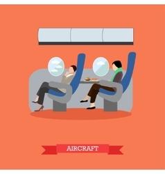 Airline travel passengers concept banner vector