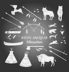 american indian background vector image