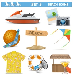 Beach Icons Set 5 vector
