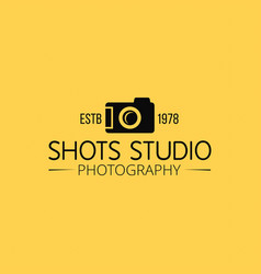 Black icons for photographer on yellow background vector