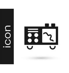 Black spectrometer icon isolated on white vector