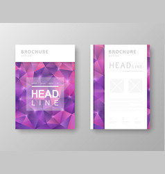 brochure design with abstract background vector image