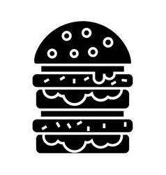 burger - hamburger icon vector image