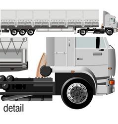 Cargo semi-truck vector